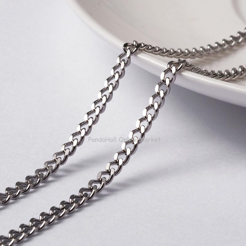Soldered 304 Stainless Steel Curb Chains, Twist Chains, Faceted, Stainless Steel Color, 4x3x0.8mm; about 20m/roll хольбайн в книга мертвых