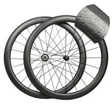 Venta caliente superficie dimple dimple ruedas de carbono de peso ligero wheelset del carbón 700c 50mm clincher de carbono ruedas de bicicleta de carretera
