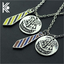 5 style Hogwarts School Pendant Necklace School uniforms pendant Badge dog tag necklace for Men and women jewelry(China)