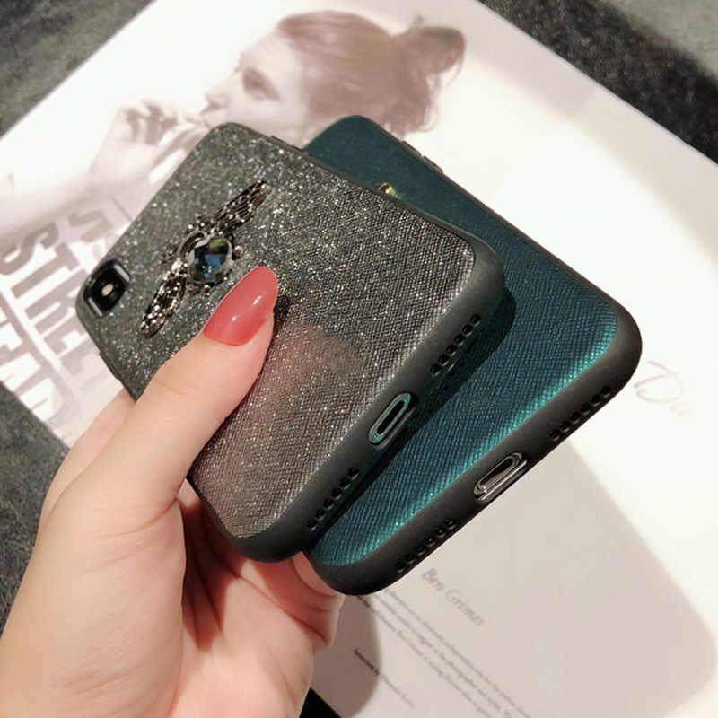 Kim Cương Thời Trang Bee Dành Cho Huawei Mate 20 10 P30 P20 Lite P10 Nova3i 4 Ốp Lưng Glitter Cover Trên Honor 8X10 V20 7A 7C Pro P Smart Plus