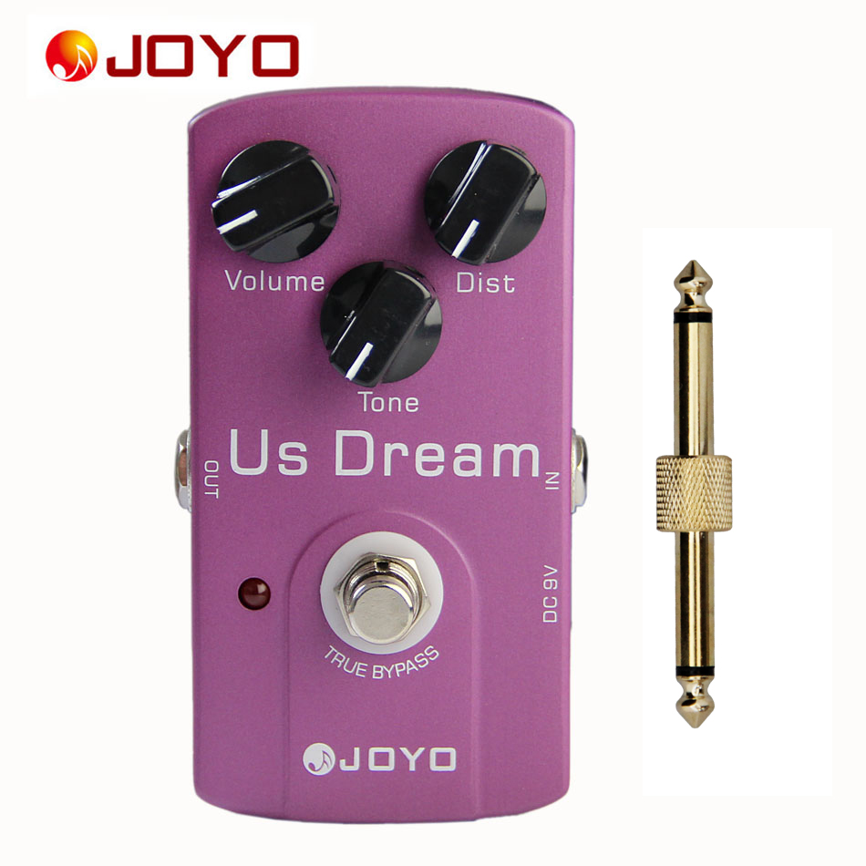 JOYO JF 34 US Dream AMP Distortion Simulation True Bypass Pedal with 1 Pedal Connector
