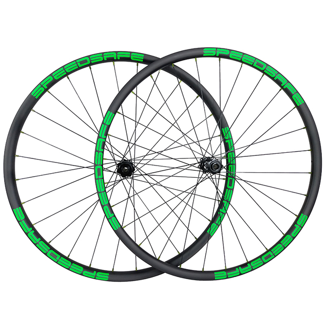 1310g SUPER LIGHT carbon BOOST wheelset 29er MTB XC 30mm asymmetric 22mm deep clincher tubeless straight pull mountain wheels