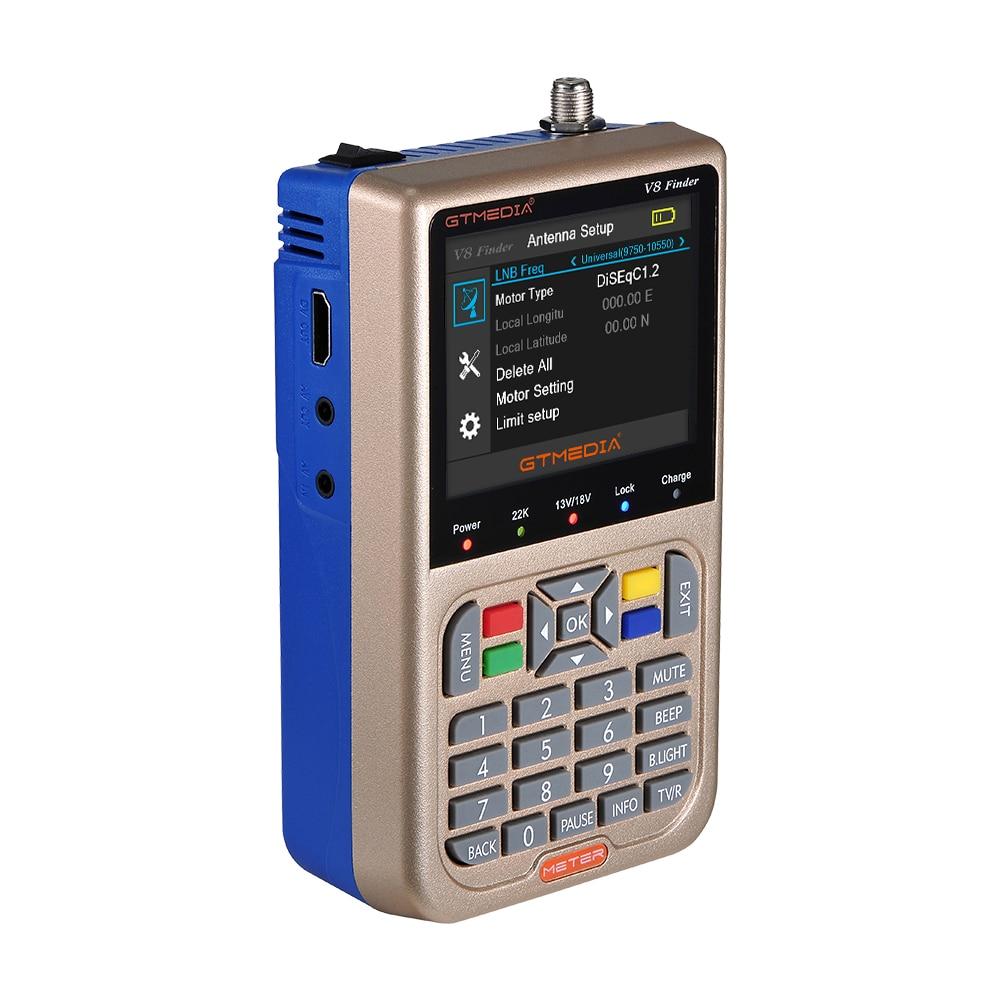 Image 2 - Newest Satellite Finder GTmedia V8 Finder Meter Satfinder Measurements of DVB S/S2/S2X signals HD 1080P Sat Finder with Battery-in Satellite TV Receiver from Consumer Electronics