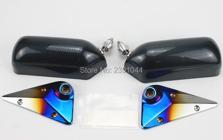 1Pair Universal CarAutos Blue Rear View Mirror F1 water stick racing Side Mirror Glass & Wide Angle Metal Bracket1Pair Universal CarAutos Blue Rear View Mirror F1 water stick racing Side Mirror Glass & Wide Angle Metal Bracket
