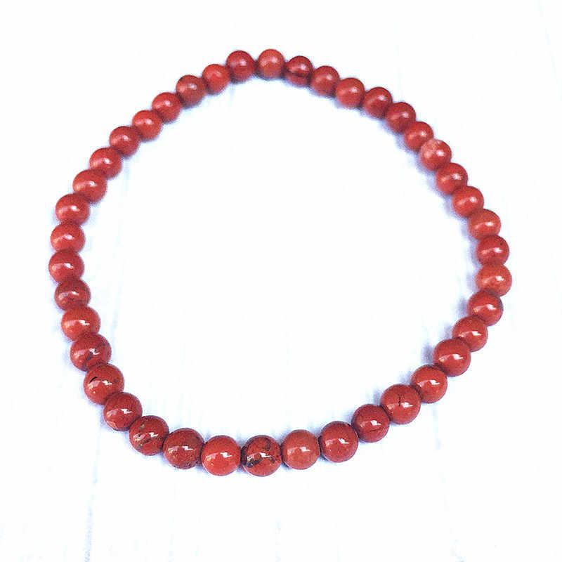 נשים צמיד 4 mm אופל ירח אבן חרוזים צמידי 18 cm-19 cm טבע נופך Amethysts לפיס טייגר עיניים אדום יאספרס ורוד אבן