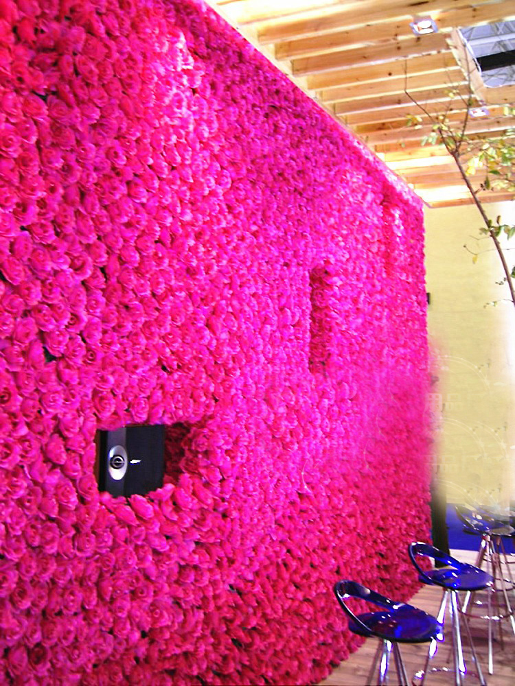 Spr Ems Free Shipping 10pcs Lot Artificial Silk Rose Flower Wall Wedding Background Lawn Pillar Home Market Decoration In Dried Flowers