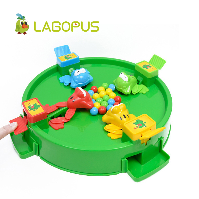 lagopus New Toy Frogs Eat Beads Interactive Board Game Children Puzzle Toy Tabletop Family and Party Game Props Frog