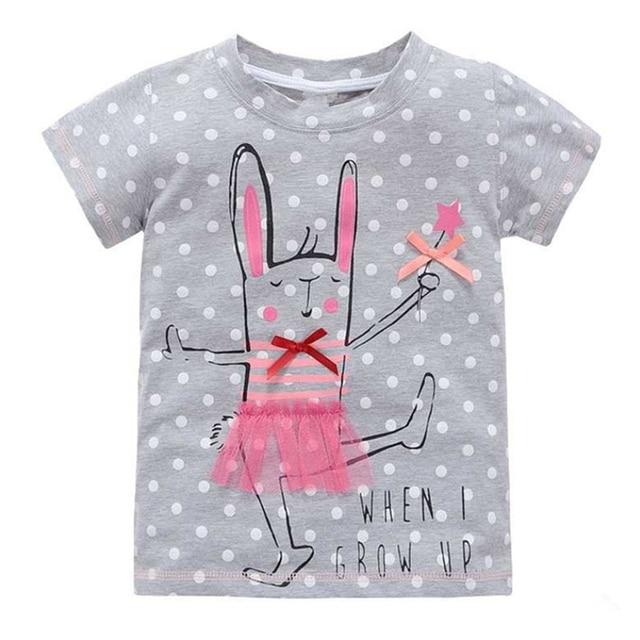 Mädchen T Shirt Kinderkleidung Kaninchen Mädchen Mit Langen ärmeln T