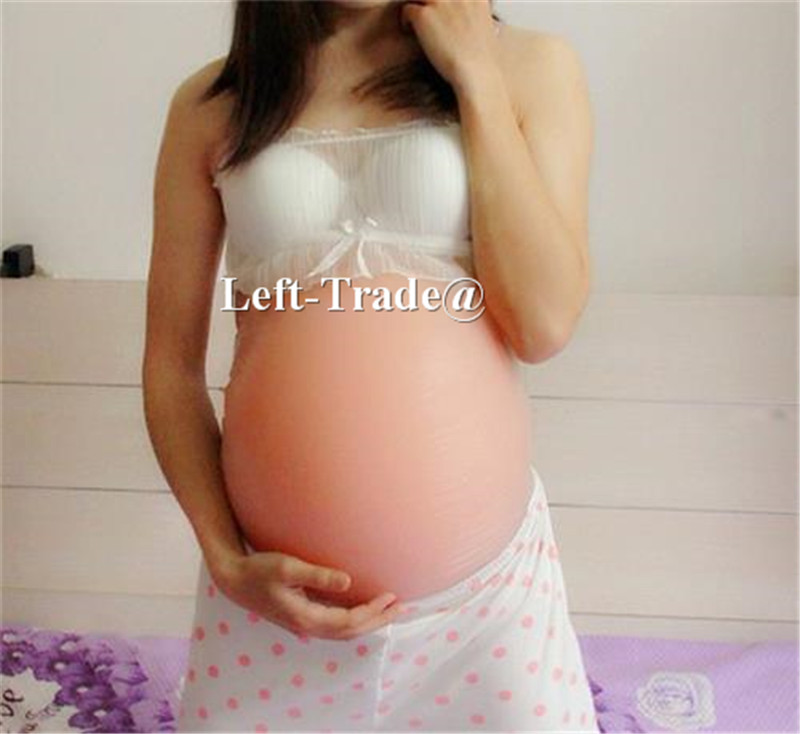 Adhesive silicone pregnant belly fake baby tomach for false pregnancy Twin size 8~10 month