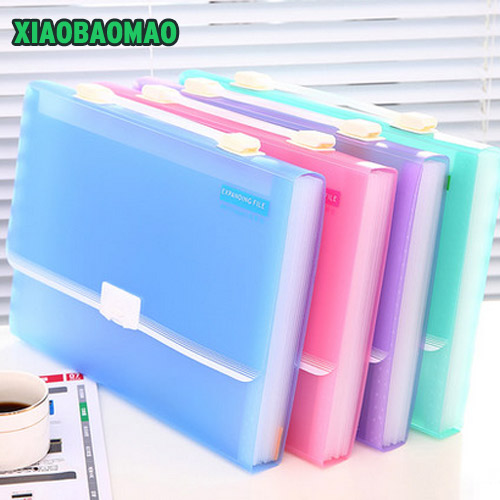 Matte PP 12 layer A4 Pastas File Folder Document Filing Bag Stationery Bag Expanding Wallet A4 Folder for Documents Fichario deli a4 file folder for documents office stationery supplies pp folder data book folder 80 pages a4 clip business folder