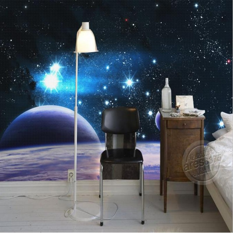 Popular space wallpaper murals buy cheap space wallpaper for Ceiling mural in a smoker s lounge