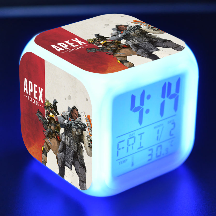 Latest Collection Of 2019 Game Apex Legends Action Figure Toys Cartoon Character Alarm Clock With Led Light Digital Night Electronic Kids Party Gift Action & Toy Figures
