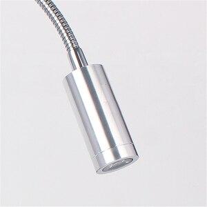 """Image 5 - משלוח חינם LED מנורת שולחן, מנורת קריאת מהדק, 30/40/50 ס""""מ 3 w גמיש led שולחן אור, בהירות גבוהה קליפ ספוט מנורת TD 005"""