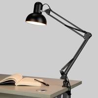 Lampada Da Lettura A LED Apprendimento Occhio Lungo BRACCIO Pieghevole (Clip) Studenti Bambini Scrivania Cafe Bar Negozio Sala Studio
