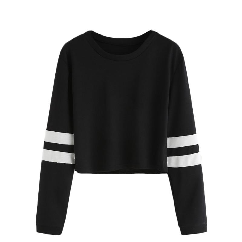 HTB1xieMNXXXXXbLXVXXq6xXFXXXS - Round Neck Varsity Striped Long Sleeve Crop T-shirt PTC 101