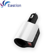Eastion LED Show Automobile Charger For Samsung iPhone iPad System 2A 2 USB Automobile-Charging Auto Sensible Cellphone Equipment Adapter