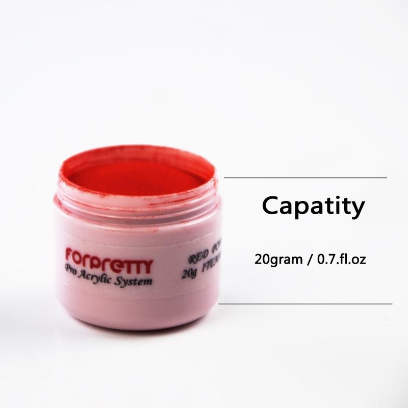 Acrilico Unha 20G Bubuk Akrilik Acryl Kuku Poeder untuk Nagel Akrilik Putih Akryl Pink Bening Polvo Poudre Acrylique Tuangkan ongle