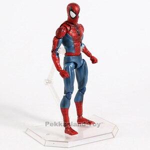 Marvel Mafex 075 Avengers Spiderman MAF075 Die Amazing Spider Man PVC Action Figure Sammeln Modell Kinder Spielzeug Geschenk