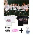 KPOP BTS Bangtan Meninos O pescoço Jimin Jin V Jhope Jung kook Rap monstro algodão verão manga curta moda tee camiseta