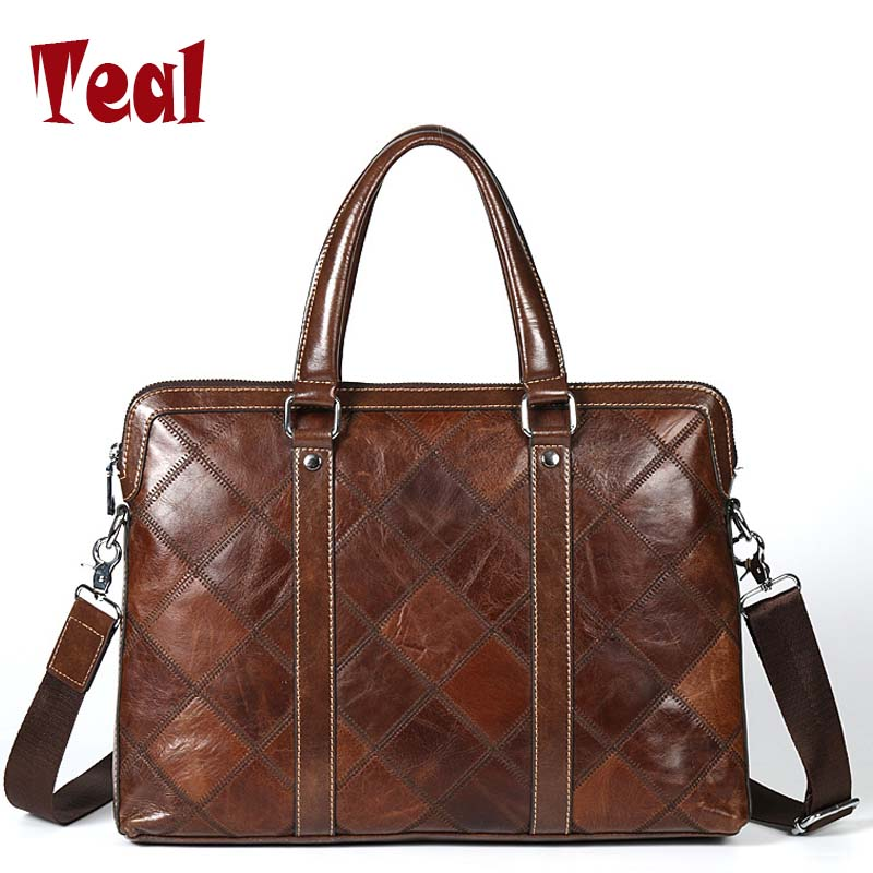 купить Men Business Bags Genuine Leather Briefcases Bag Luxury Brands Desinger Handbag Messenger Bag Male Bags Vintage Casual Tote New по цене 6274.13 рублей