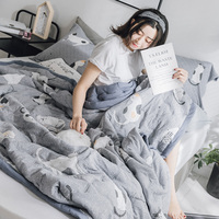 2018 New Bedding Flamingo Summer Quilt Blankets Cartoon Comforter Bed Cover Quilting Home Textiles Suitable for Adults Kids