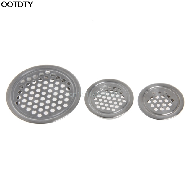 Wardrobe Cabinet Mesh Hole Air Vent Louver Ventilation Cover Stainless Steel