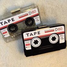 Personality transparent tape cassettes evening clutch bag ac
