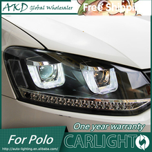 AKD Car Styling for VW Polo GTI Headlights New Polo LED Headlight DRL Bi Xenon Lens High Low Beam Parking Fog Lamp Accessories