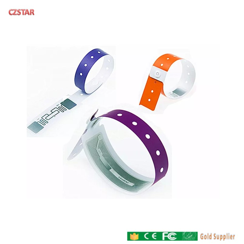 Long Range Waterproof Disposable PVC UHF RFID Tag Patient Hospital ID Reusable Silicon Rfid Uhf Wristband Tag School Sports Race