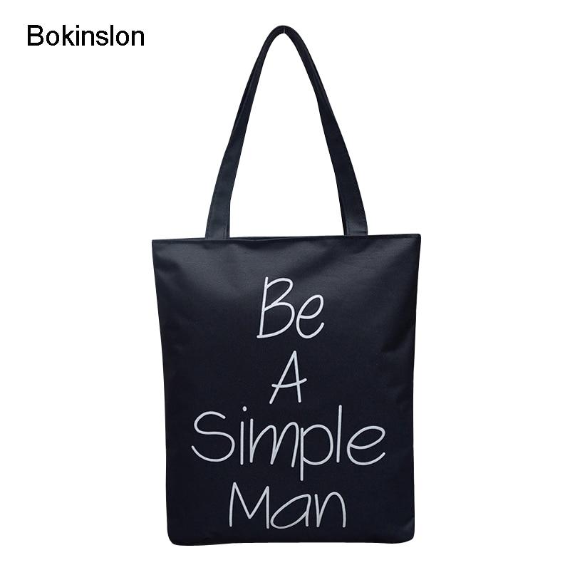 Bokinslon Women Shoulder Bags Simple Canvas Woman Crossbody Bag Popular Small Fresh Female Big Bags