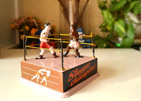 Clockwork classic retro tin toys Rare Clockwork Boxers Boxing ring Collection
