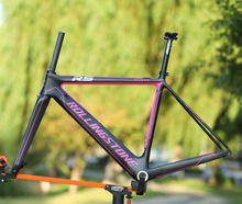 Rolling Stone Attack Carbon 700c Road Bicycle aero Frame Fork Set UCI approved 46cm 49cm