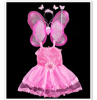 Toddler Girls Party Dress Girls Clothes Costumes Cartoon Characters Butterfly Fairy Vestido Lolita Cosplay Kids Customes