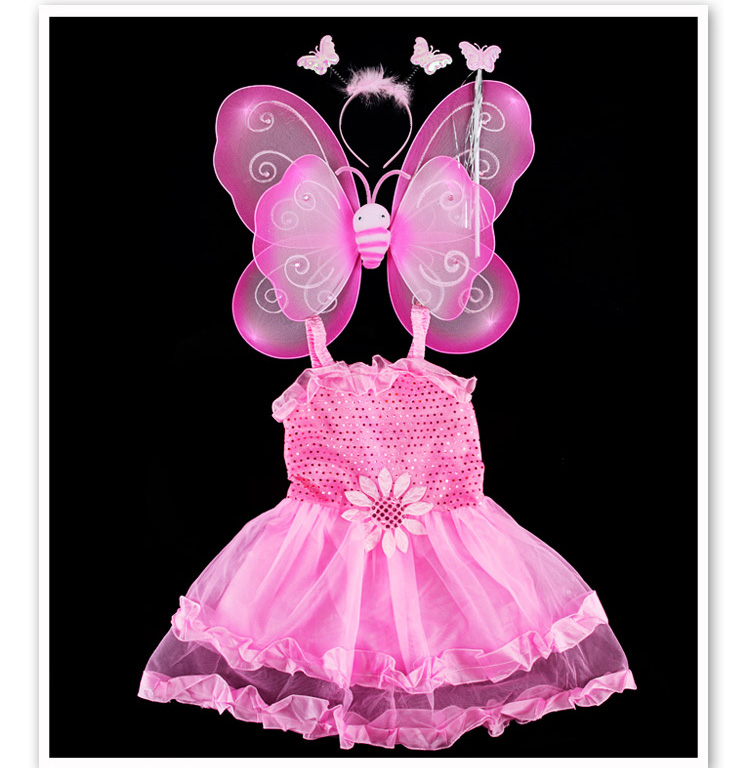 Toddler Girls Party Dress Girls Clothes Costumes Cartoon Characters Butterfly Fairy Vestido Lolita Cosplay Kids Customes Girl