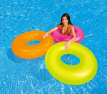 2017 Sale Pool Toys Inflatable Swimming Ring Laps/floating Ring/lifebuoy For 9 Years Children And Older ,91cm,neon Solid Color