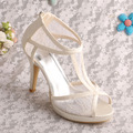 Wedopus MW342 New Style Ivory Women Sandals 2015 Open Toe Zipper Pumps Free Shipping