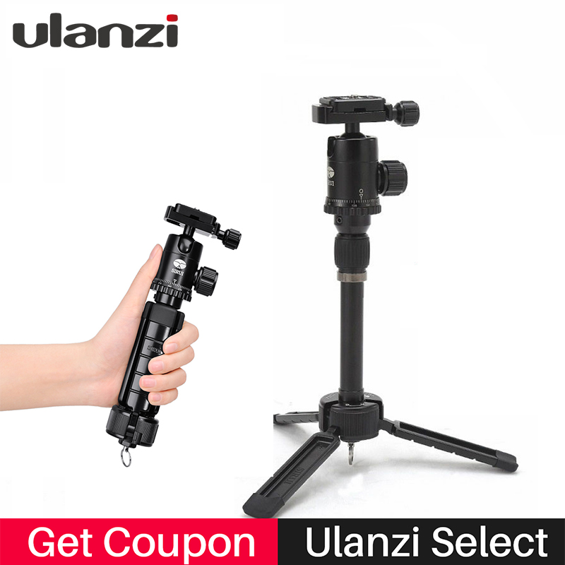 Ulanzi Sirui Compact Aluminium Travel Tripod with quick release plate for Nikon Canon Sony DSLR Camera Phography Tripod hongdak rs 60e3 universal convenient cable release for canon dslr black
