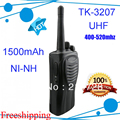 4 шт./лот DHL Бесплатная доставка двухстороннее радио TK3207 Walkie Talkies TK-3207 UHF 400-520MHZ