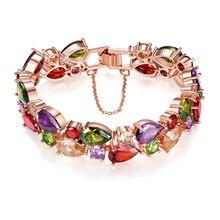 bracelet Womens amber Armband braclelets ladies Amethyst gemstone jade crystal moonstone Gold Jewelry BR0001