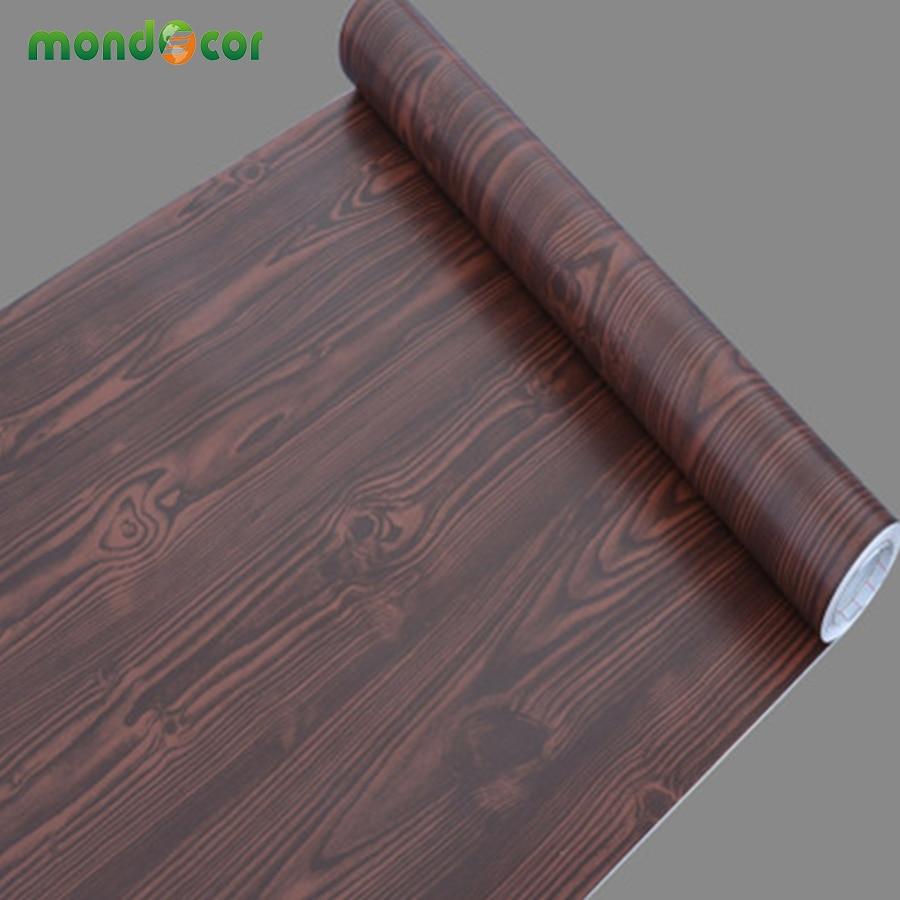 5M Kitchen Wood Grain self adhesive PVC Wallpaper Refurbished Wardrobe Cupboard Door Desktop Furniture Wall Stickers Home Decor