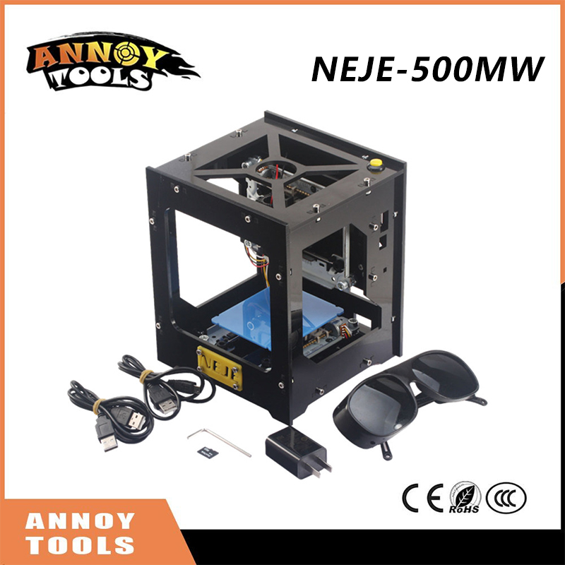 500mW NEJE cnc router cutter DIY cnc laser mini Engraving Machine USB Laser Engraver Off-line Operation with Glasses 1000mw high speed mini laser cutter usb laser engraver cnc router automatic diy engraving machine off line operation glasses