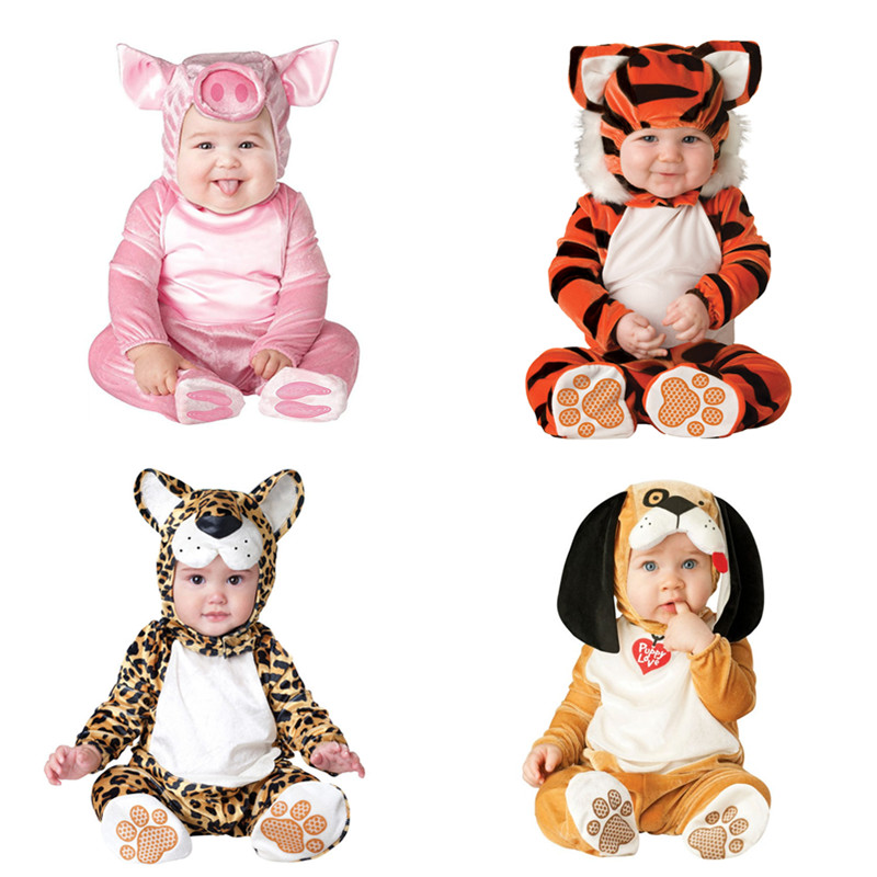 Baby Halloween Rompers 2018 Fashion Pink Pig Unicorn Animal Cosplay Costumes Boys Girls Jumpsuits Infants Clothes Bebe De Roupa