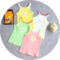2017 girls t shirt pink white blue white colors sleeveless tops for 1-4y girls kids cotton tees free shipping retail