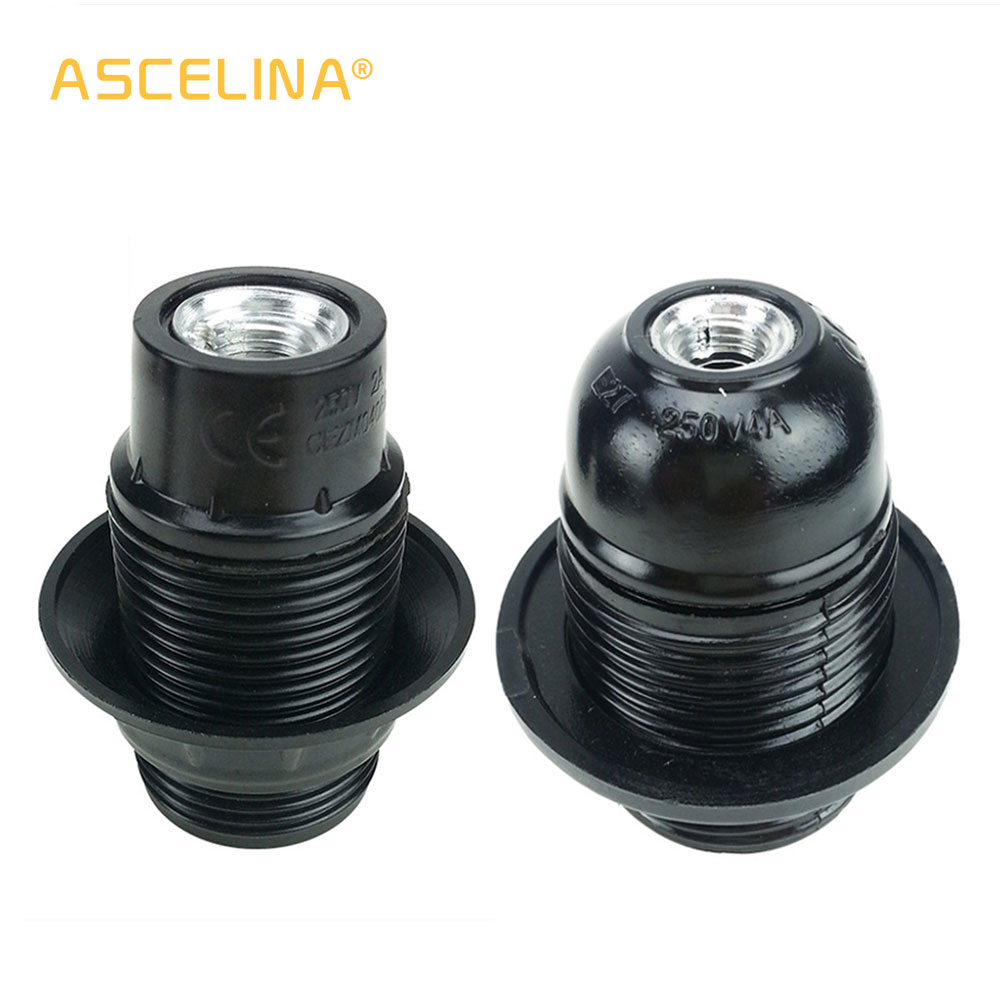 ASCELINA Lamp Base E14/E27 Bakelite Lampholder Edison Pendant Lamp Socket Vintage Industrial Lamp Holder Light Fitting For Home