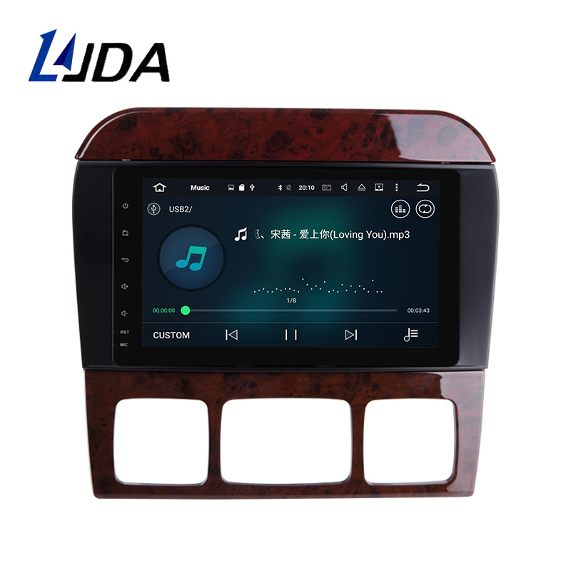 LJDA 8 Inch Android 8.0 Car GPS Radio For Mercedes Benz W220 W215 S280 S320 S350 S400 S500 S Class Gps Navigation 32G ROM 4G RAM
