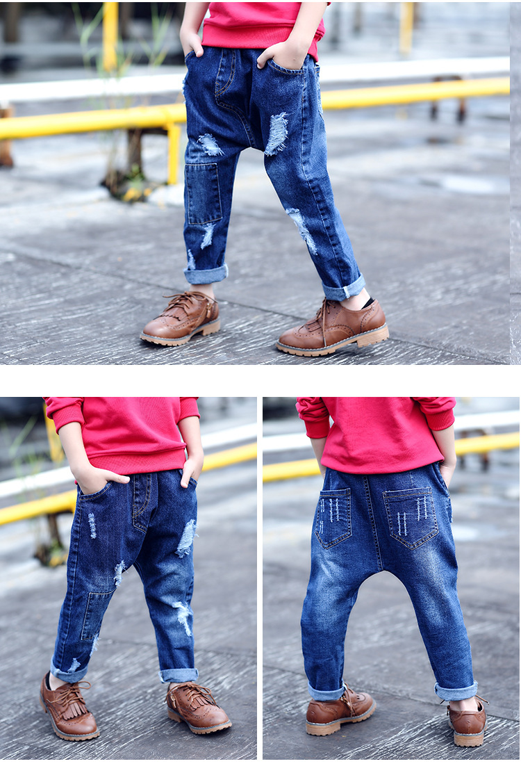 2dfca872b7f9 Hip Pop Fashion Street 2017 Spring Autumn New Torn Jeans Ripped Hole ...