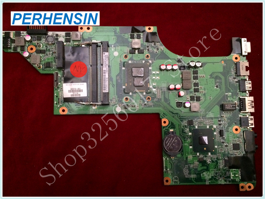 For HP For DV6-3200 DV6-3000 Motherboard I3-370M CPU DALX6HMB6C0 637212-001 100% tested good original 615279 001 pavilion dv6 dv6 3000 laptop notebook pc motherboard systemboard for hp compaq 100% tested working perfect