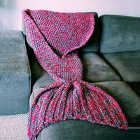 knitting mermaid tail blanket spring sofa blanket the best gift for wife girl friend both for kids and adult 40x90cm 80x180cm