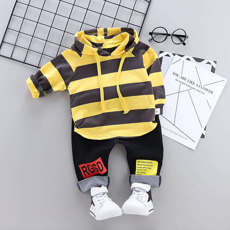 2019 Spring Infant Clothing Sets Baby Boys Girl Clothes Suit Sports Striped Hooded Sweater Pants 2pcs Children Toddler Tracksuit2019 Spring Infant Clothing Sets Baby Boys Girl Clothes Suit Sports Striped Hooded Sweater Pants 2pcs Children Toddler Tracksuit
