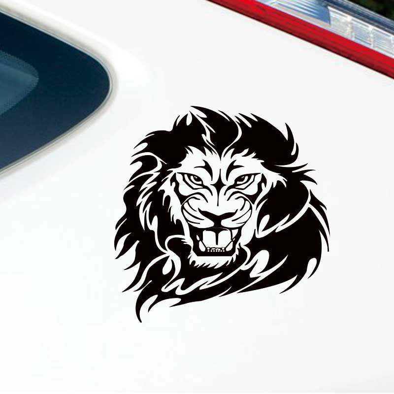 ᗖCool lion patrón etiqueta engomada del coche, coche animales ...